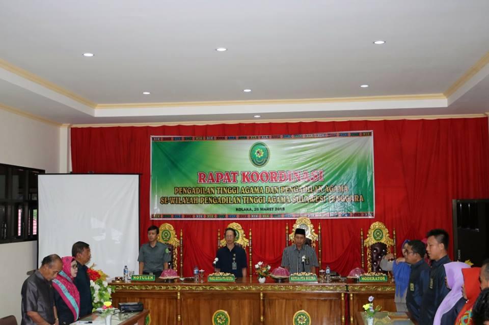 PA Kolaka Tuan Rumah Rakor PTA Sultra dan Diskusi Hukum Wilayah Daratan