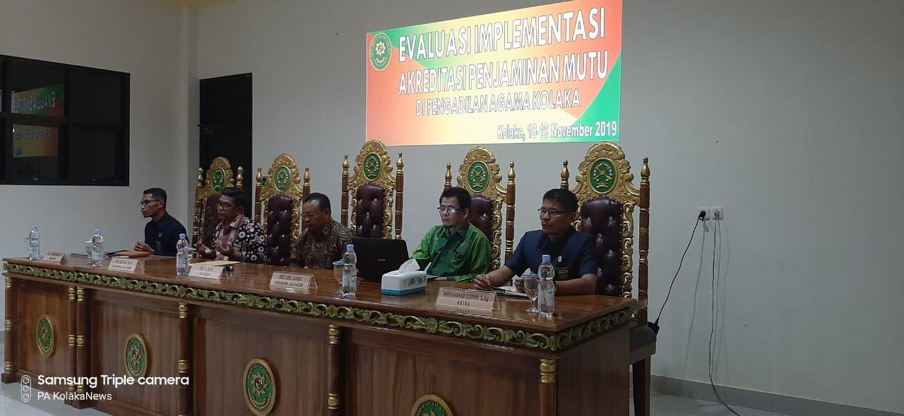 Tindaklanjuti Hasil Telusur Dokumen, Tim Asesmen Eksternal PTA Sultra Datangi PA Kolaka