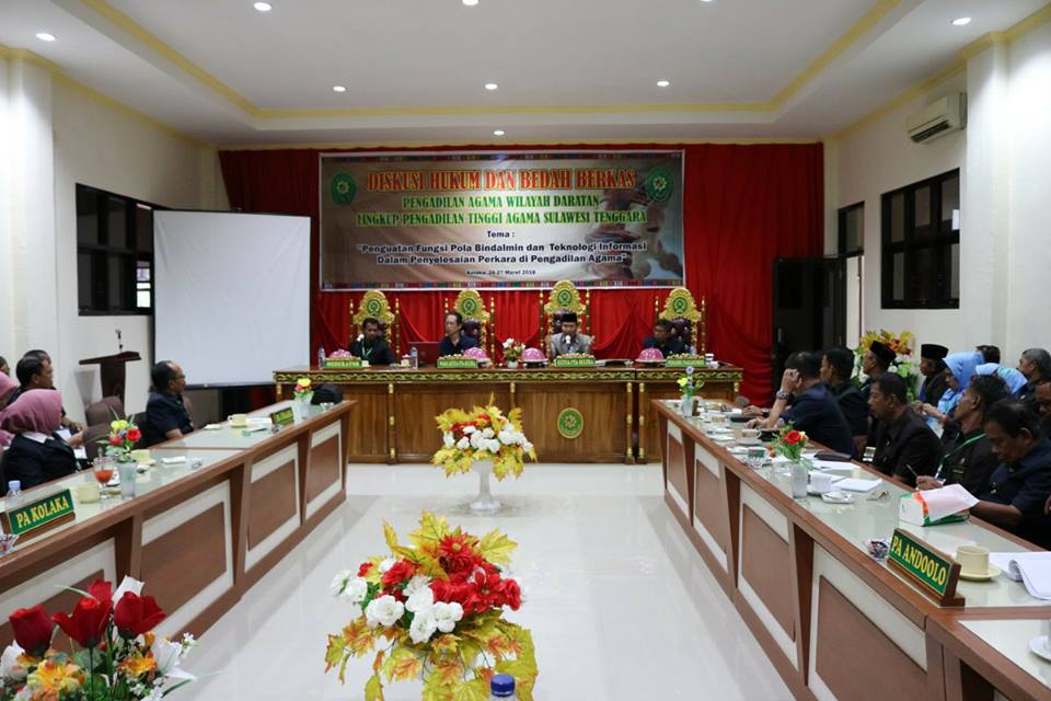 Diskusi Hukum dan Bedah Berkas Wilayah Daratan Digelar di PA Kolaka