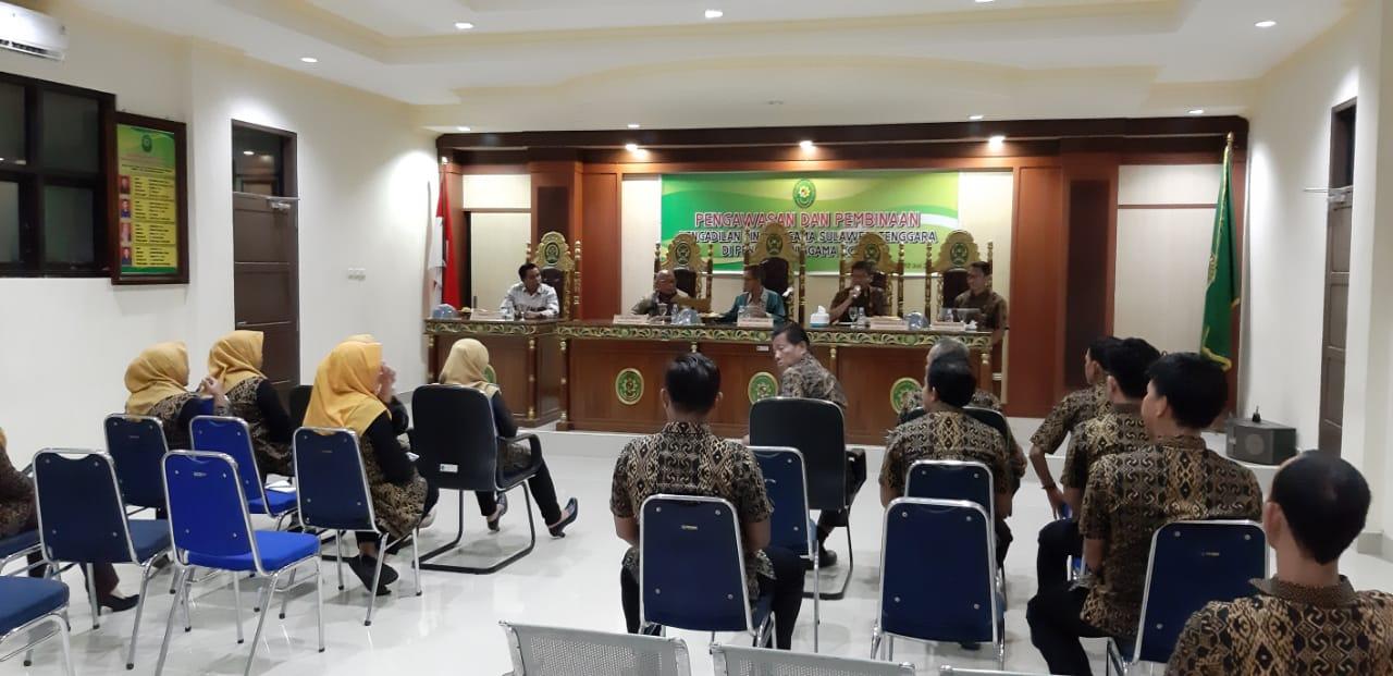 Hari Ketiga Pelaksanaan, Tim Binwas PTA Sultra Ekspos Hasil Pemeriksaan