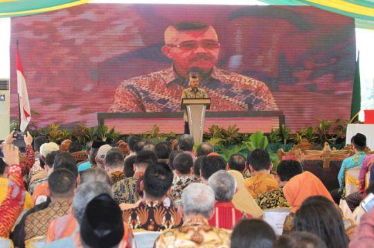 KETUA  MAHKAMAH AGUNG REPUBLIK INDONESIA RESMIKAN 85 PENGADILAN  BARU  DI MELONGUANE, KABUPATEN TALAUD, SULAWESI UTARA