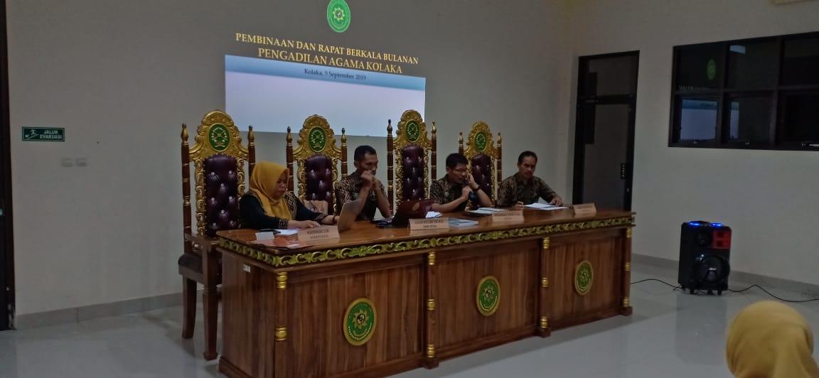 Ketua PA Kolaka Ingatkan Maklumat Ketua MA di Pertemuan Rutin Bulanan