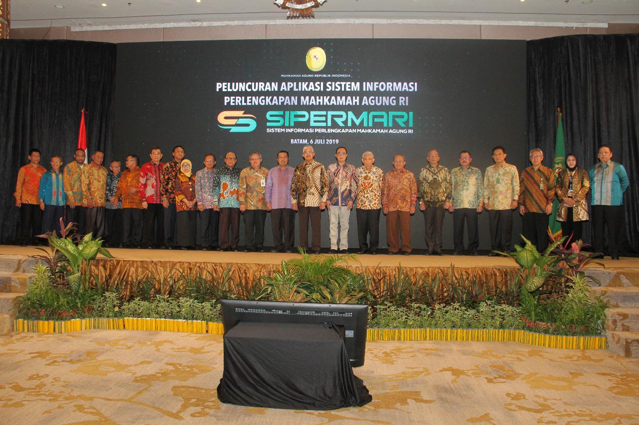 PELUNCURAN SISTEM INFORMASI PERLENGKAPAN MAHKAMAH AGUNG REPUBLIK INDONESIA SIPERMARI